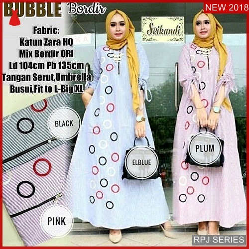 RPJ210D176 Model Dress Burbble Cantik Top Wanita
