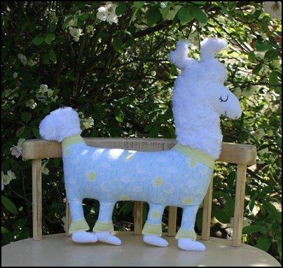 Llama in Pajamas Handmade Plush Stuffed Animal, Cute Llama Plushie Toy, Cute Baby Nursery Decor