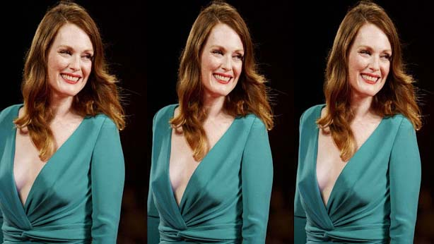 If anybody asks about the secret of her straight nose from the Julianne Moore who is celebrating her 58th birthday in December, she tells him that no day is passed when she does not use the high SPF sun screen, whether it is sunny or rainy, she never forgets to apply the sun screen and she has been abiding by this habit for 20 years.