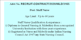 Staff Nurse Jobs in National Institute for Locomotor Disabilities Divyangjan