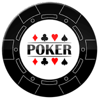 solid black poker chip