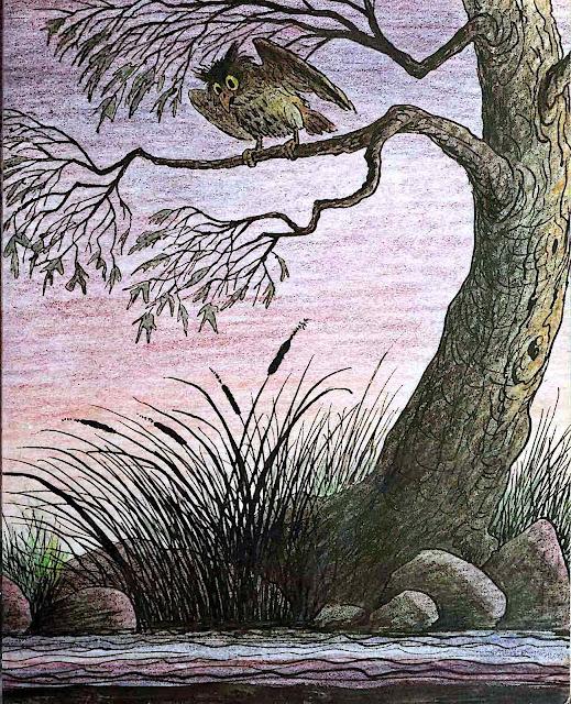 a Bill Peet children's book owl