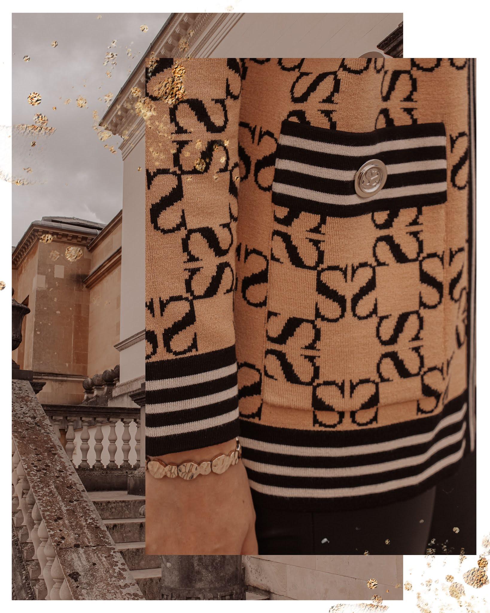 Sandro Monogram Cardigan Luxury Blog Style