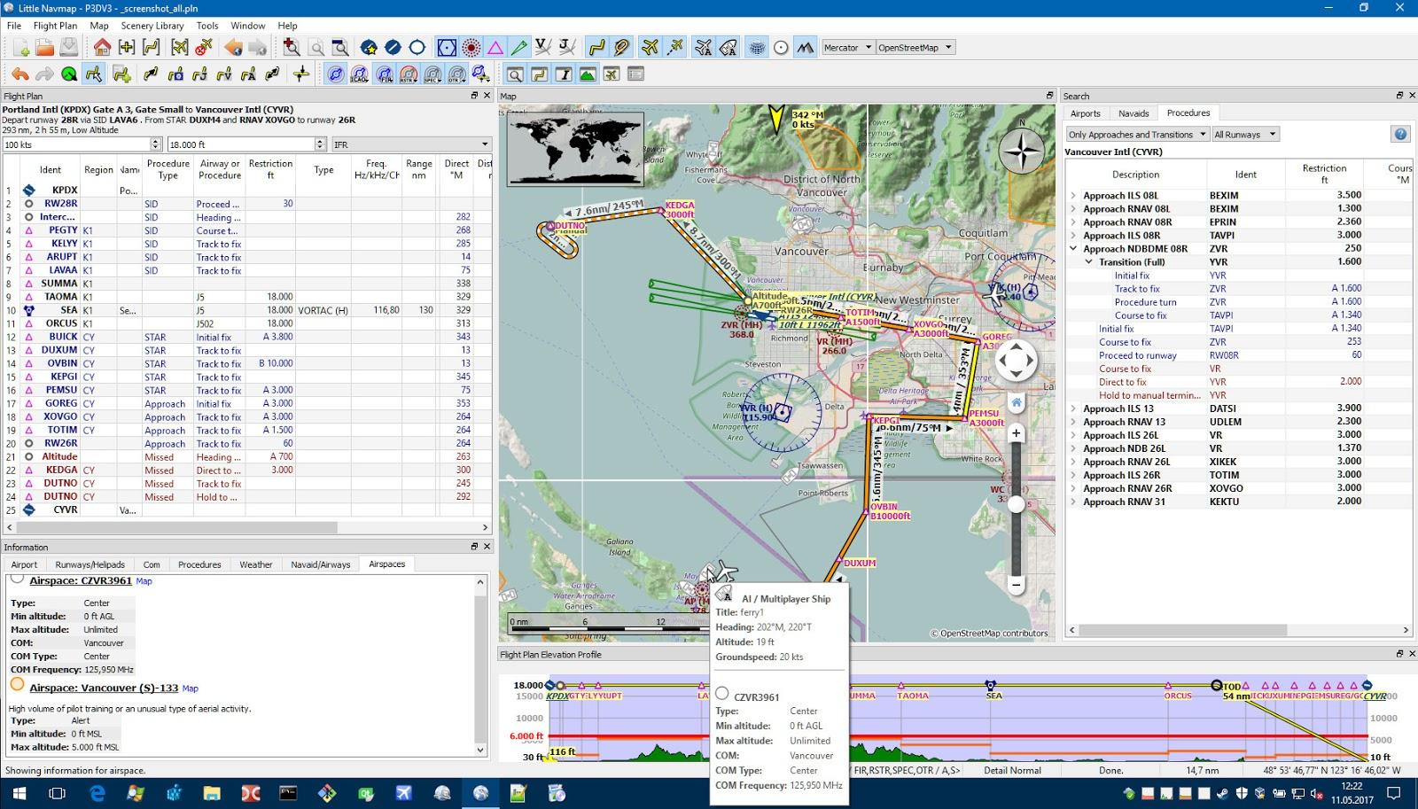 FlySimReal: Little NavMap for Flight Simulator X, Prepar3D