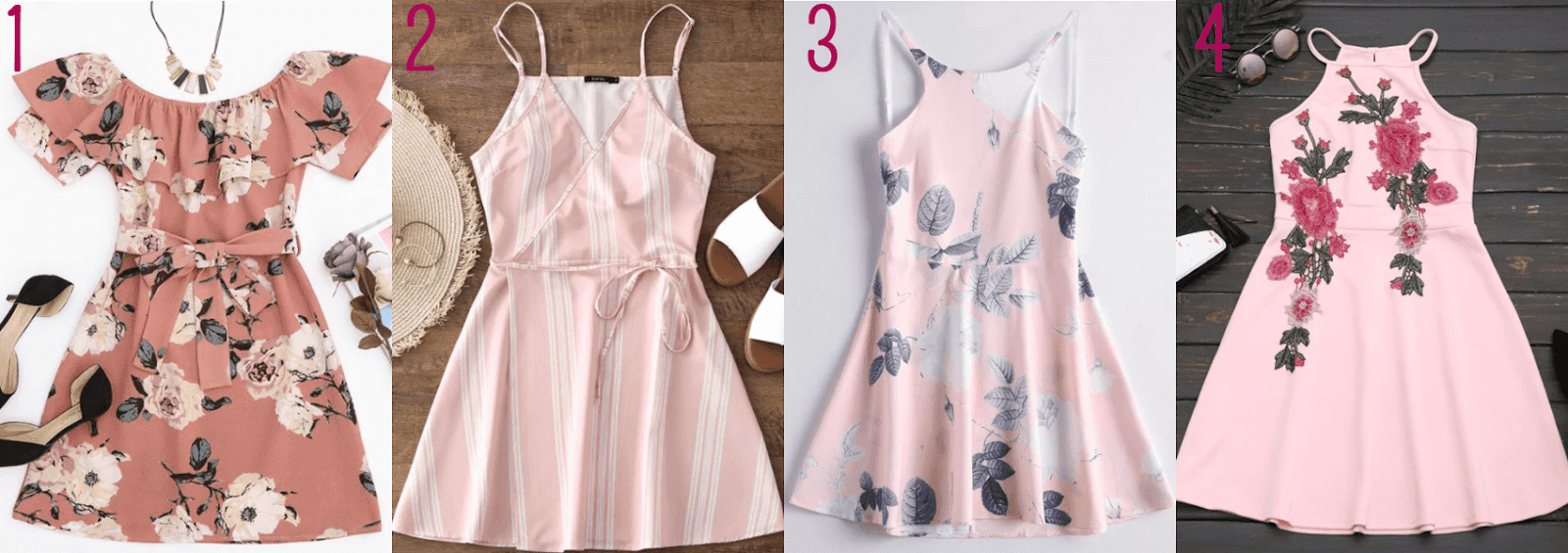 short pink dresses here zaful