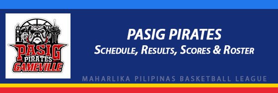 MPBL: Pasig Pirates Schedule, Results, Scores, Roster