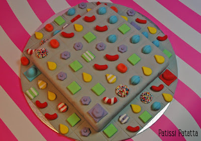 cake design, Candy Crush cake, Candy Crush saga, pâte à sucre, gumpaste, patissi-patatta