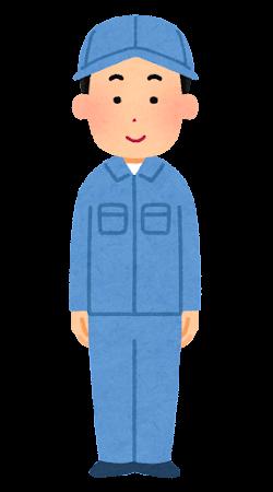 男性作業員のイラスト(帽子)