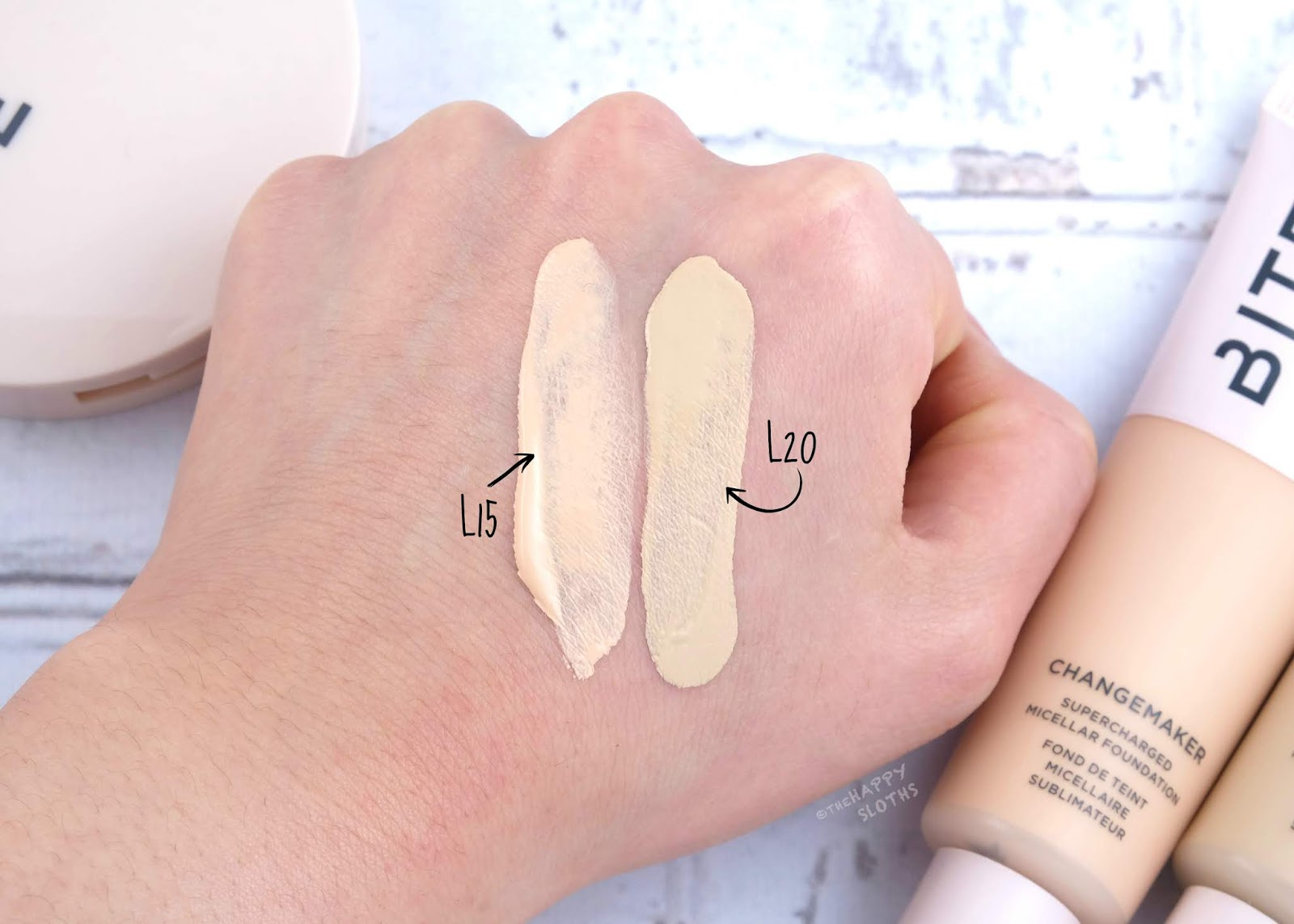 "Bite Beauty | Changemaker Supercharged Micellar Foundation in ""L15"" & ""L20"": Review and Swatches"