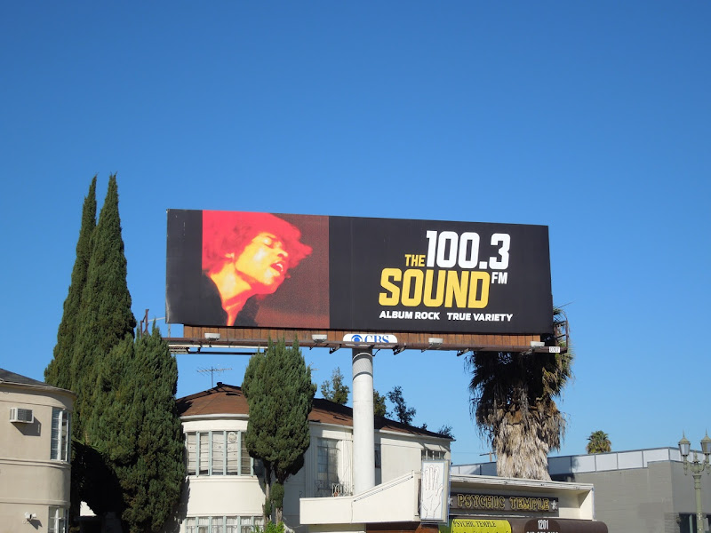 100.3 FM Sound radio billboard
