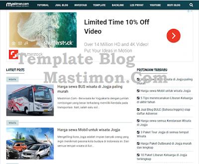 Template Blog Mastimon  Mastimon.com
