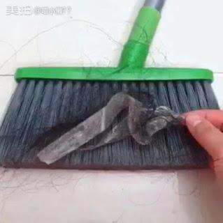 Truco para eliminar el pelo del suelo