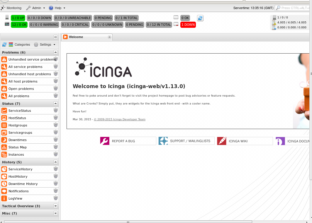 Icinga2 and Icinga-web installation on Ubuntu 14 04 Server