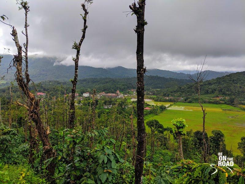 Lush green Bhagamandala temple town