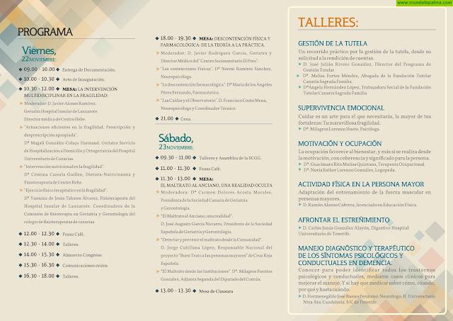 XXXII Congreso de la Sociedad Canarias de Geriatría y Gerontología