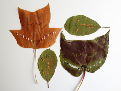 stitch­ing on the leaves