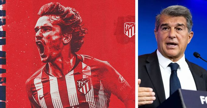 Barcelona President Laporta give reason for Griezmann's loan move to Atletico