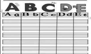 مذكرة تعليم الحروف الانجليزية لكى جى kg من موقع درس انجليزي مذكرة انجليزي كى جى