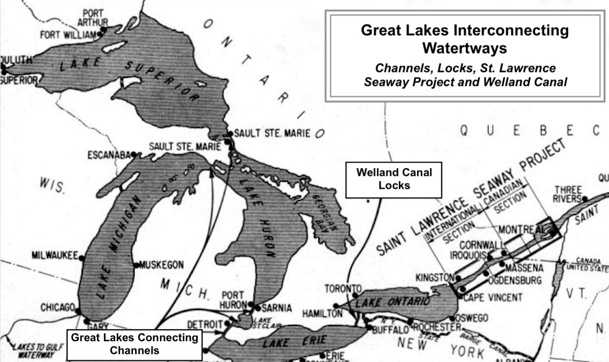 Us Great Lakes Map Globalinterco - Map of us with great lakes