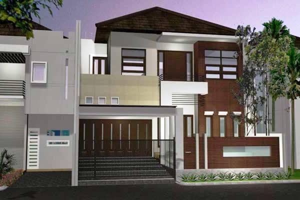 Gambar Desain Rumah 2 Lantai Type 45 Minimalis