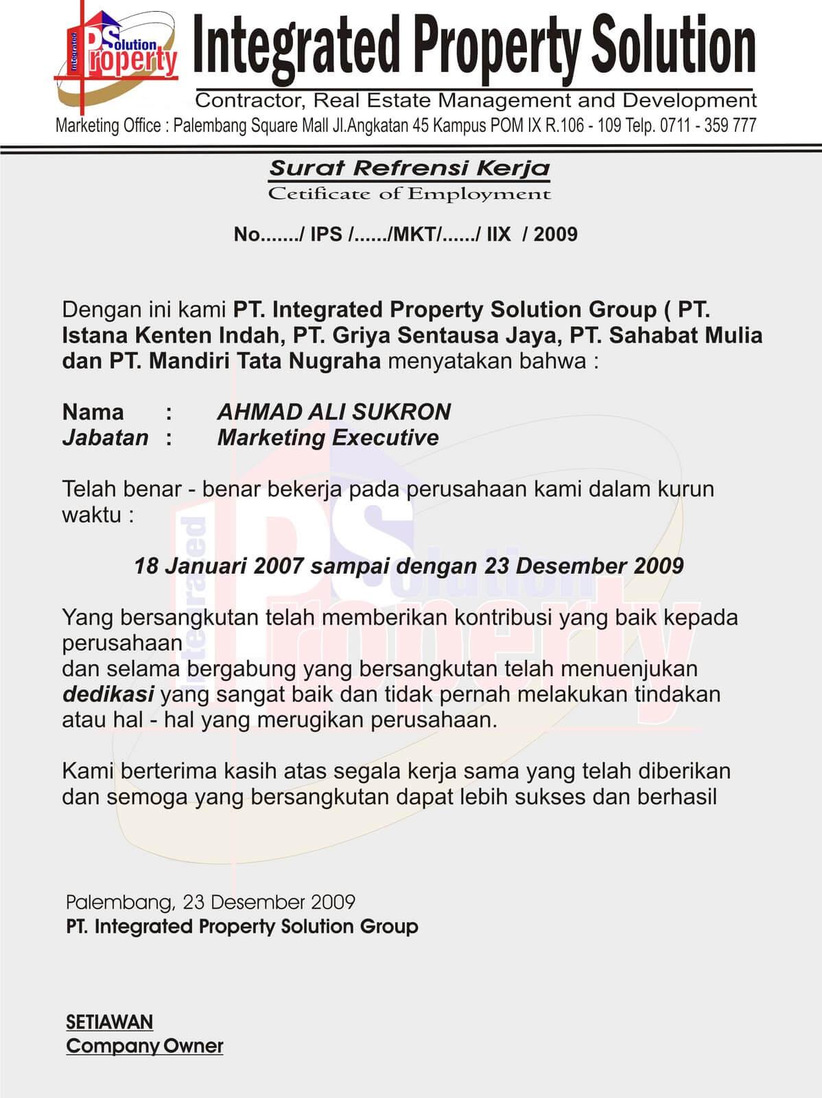 contoh surat perjanjian kerjasama bagi hasil proyek