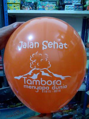 Balon Sablon Jalan Sehat Tambora