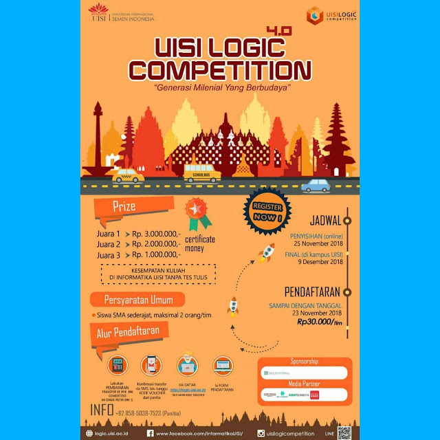 Lomba Asah Logika UISI Logic 4.0 2018 SMA Sederajat