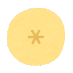 フルーツのマーク(バナナの断面)