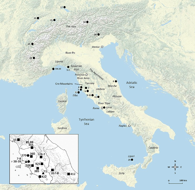 Late Neolithic Italy was home to complex networks of metal exchange