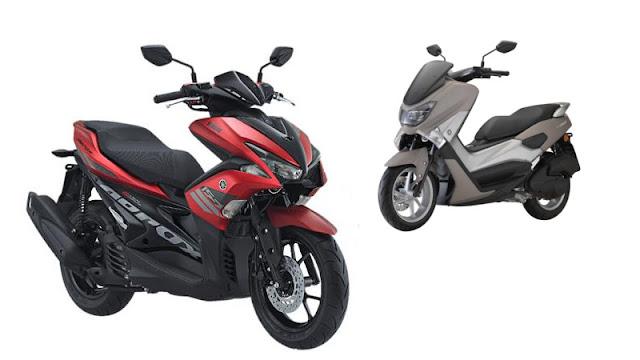 Yamaha Aerox   Vs Honda Click