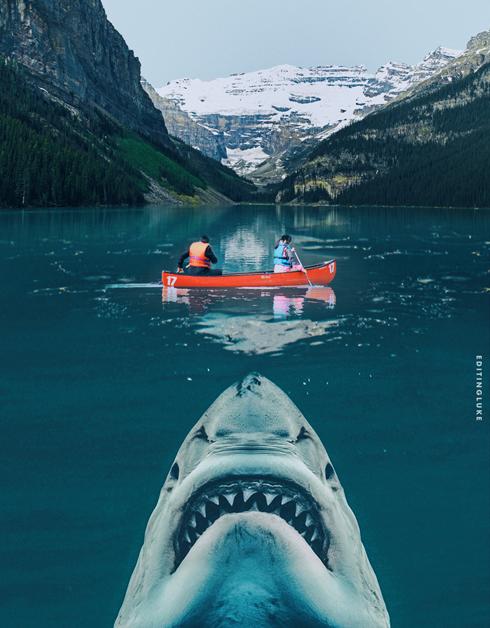 Jaws Lake Louise Banff