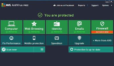 salah satu antivirus terbaik dan ringan saat ini adalah avg yang merupakan antivirus free dan banyak digunakan