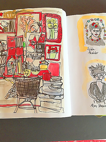 Sharon Nullmeyer, Nullsie, Sketchbooks, Sketchbook Conversations
