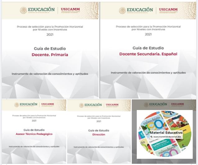 SEP. USICAMM - Guías De Estudio. Promoción Horizontal. Todos Los Niveles, Funciones Y Asignaturas - Instrumento de Conocimientos y Aptitudes.