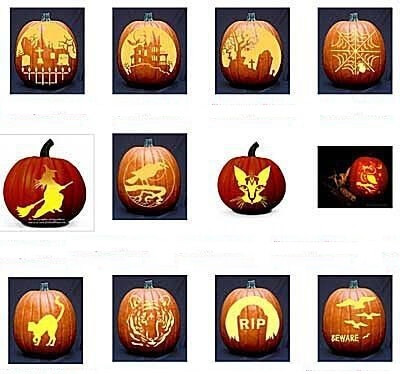 12 free printable pumpkin carving stencils