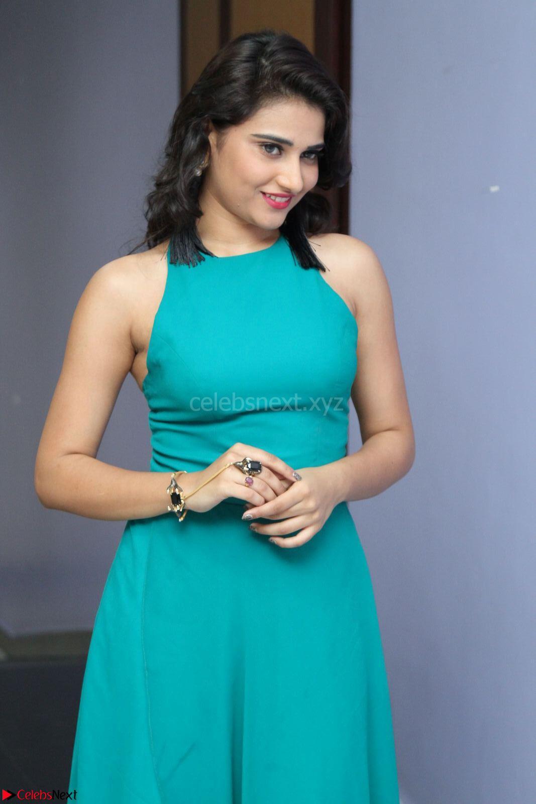 Priya Singh in a sleeveless Green Gown at Manasainodu music launch 011.08.2017 ~ Exclusive Celebrity Galleries