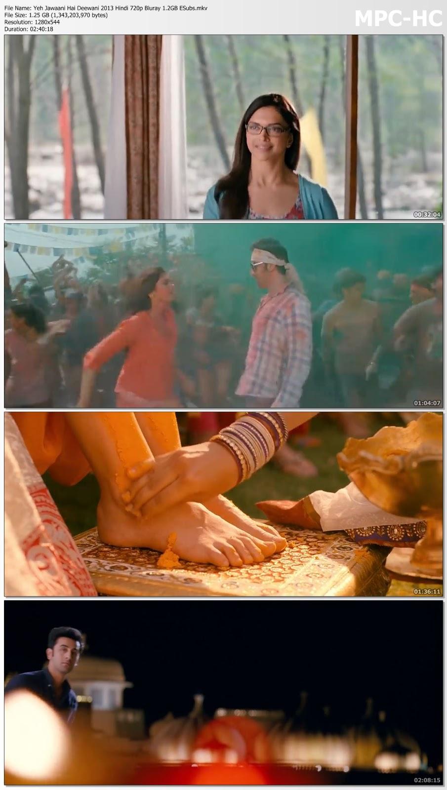 Yeh Jawaani Hai Deewani 2013 Hindi 480p BluRay 450MB ESubs Desirehub