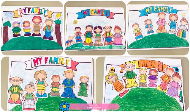Actividad para crear un cuadro de los miembros de la familia de Marta G