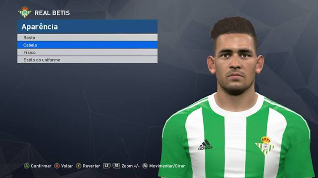 PES 2017 Sanabria Face (Real Betis)