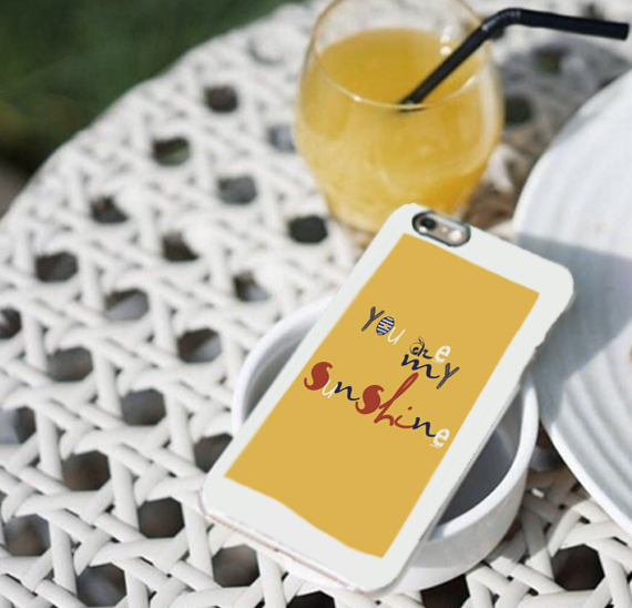 customized mobile cases typography designed in yellow
