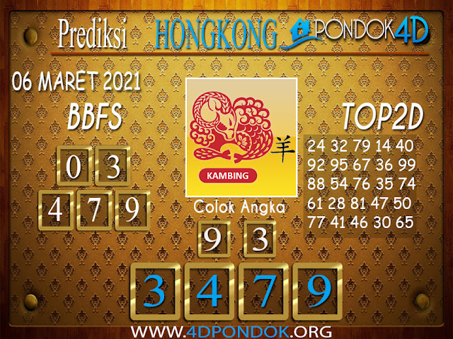 Prediksi Togel HONGKONG PONDOK4D 06 MARET 2021