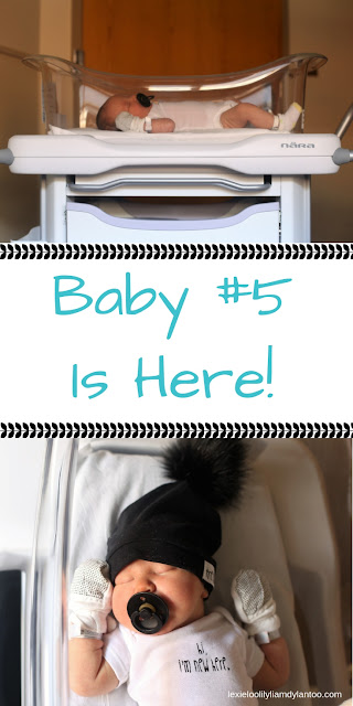 Baby #5 is here! Introducing our fifth child - our beautiful son, Coen... #baby #momblogger #birthannouncement #newbornphotography #hospitalphotos #birth