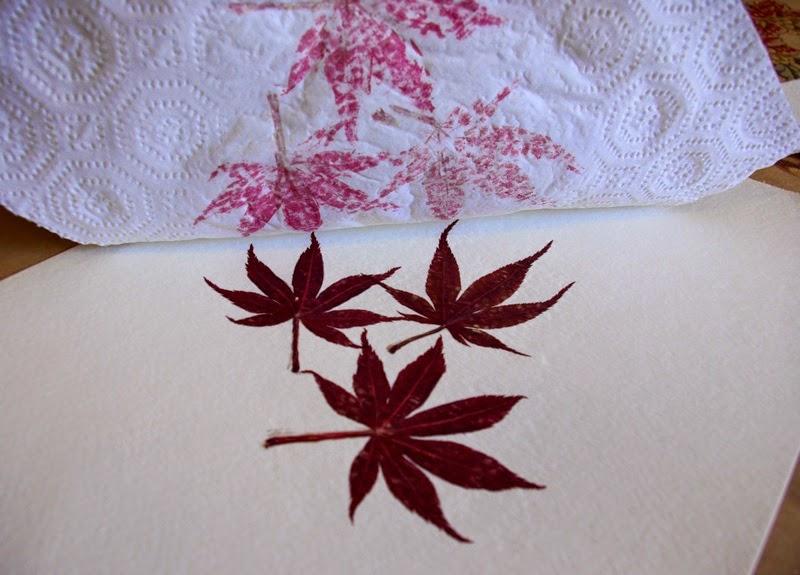 Impresiones naturales de plantas y flores en papel de acuarela5