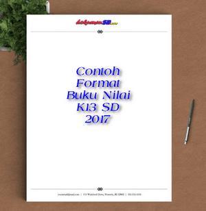 Contoh Format Buku Nilai K13 SD 2017