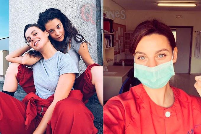 Clara Alvarado, actriz de la Casa de Papel trabaja como enfermera para combatir el coronavirus