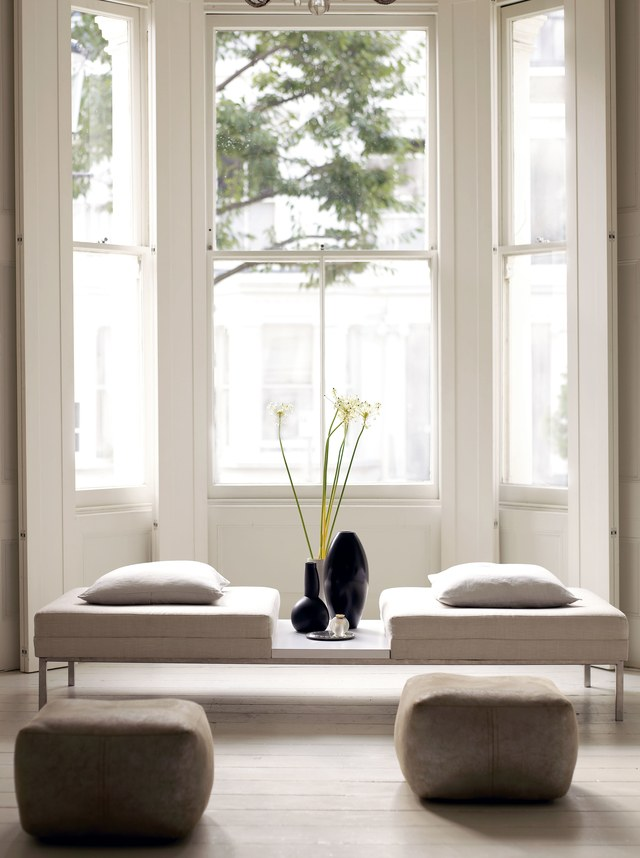 Beautiful minimal simple interior design in room by Mark and Sally Bailey (found on Hello Lovely)
