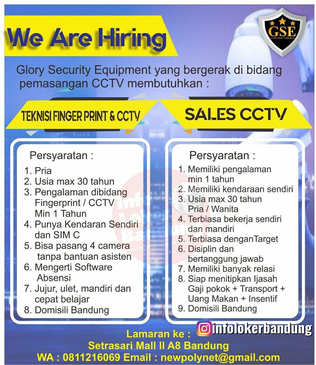Lowongan Kerja Glory Security Equitment (GSE) Bandung Oktober 2019