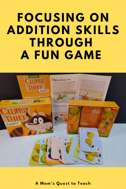 A Mom's Quest to Teach: Focusing on Addition Skills Through a Fun Game - A Review of Clumsy Thief Junior   - Materials from Clumsy Thief Junior
