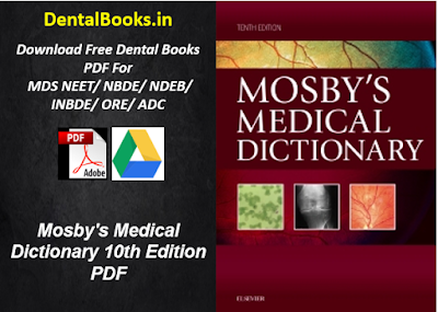 Mosby's Medical Dictionary 10th Edition PDF