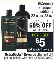 FREE Tresemme Shampoo CVS Deal 10-25-10-31